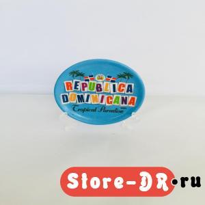Тарелка Сувенирная ( керамика) Republica Dominicana small size