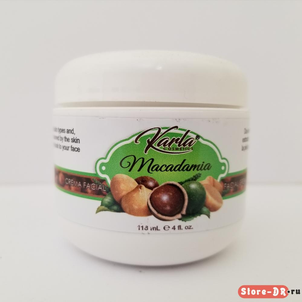 Crema Facial Macadamia Karla Cosmetics 4 oz 118.2 ml