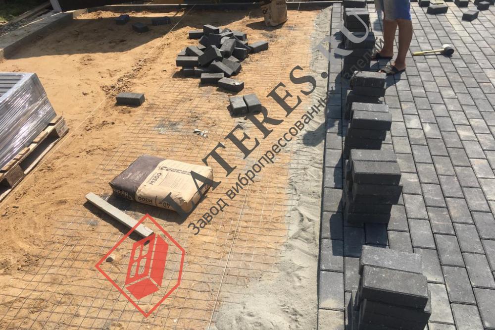 Вибропрессованная тротуарная плитка по новой технологии